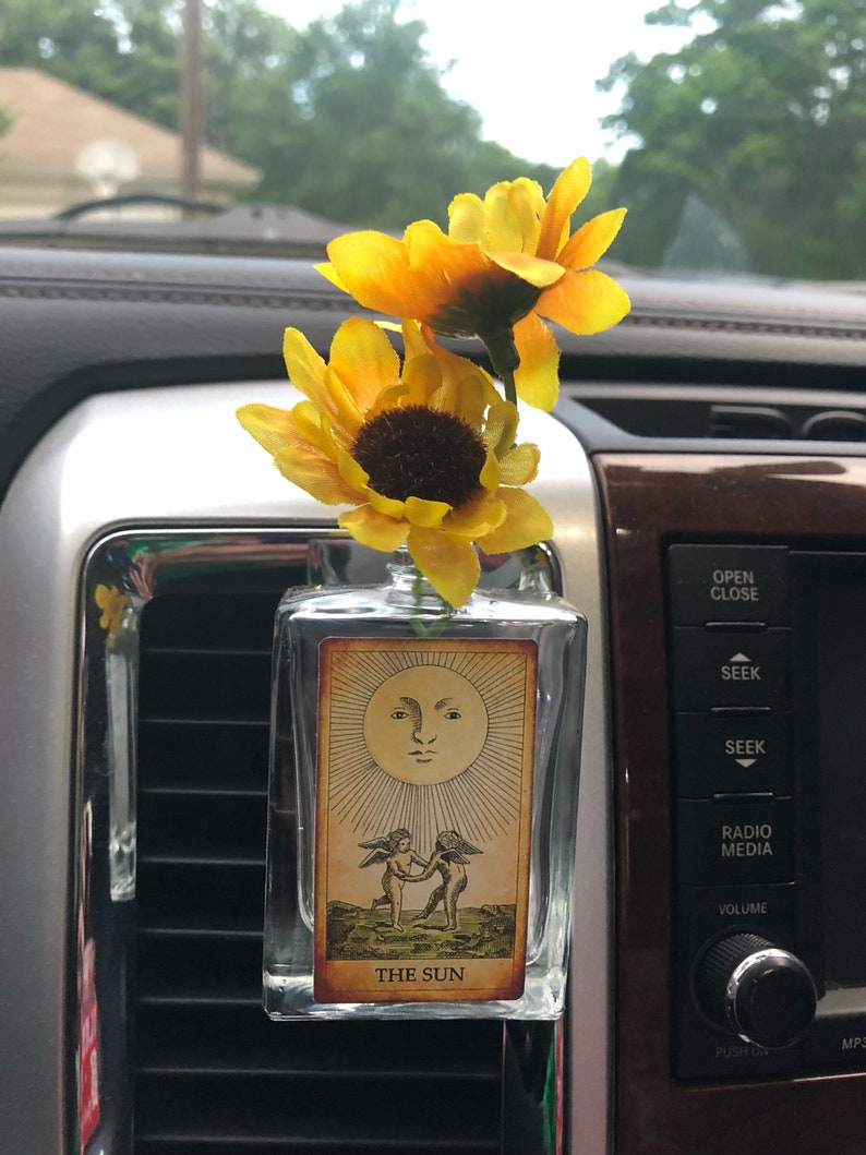Etsy & Car vent clip vase the sun tarot fill with essential oil or diffuser sticks air freshener auto accessory