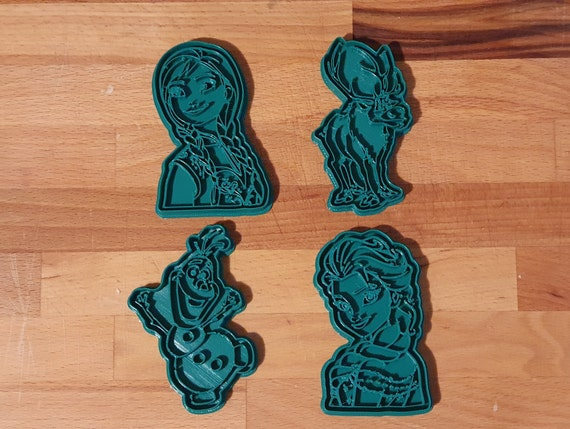 Set of 4 Cookie Cutter inspired to Frozen Movie (Elsa, Anna, Olaf and Sven) for party decoration
