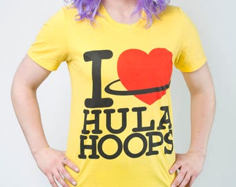 I Love Hula Hooping Yellow Top Heart Hula hooping