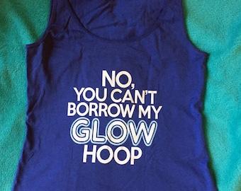 Glow Hoop blue fitted Vest top tank LED hula hoop