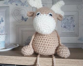 Crochet pattern for cute bobble leg reindeer raindeer digital download Christmas stocking filler / stuffer homemade gifts