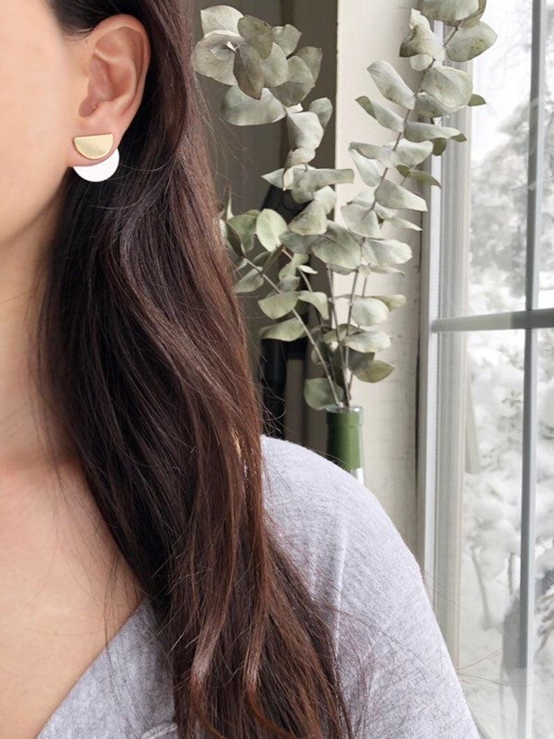 Front Back Earring Ear Jackets Trendy Earrings Geometric Earrings Minimalist Earrings Double Sided Earring