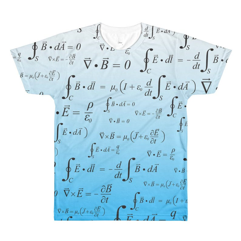 Maxwell's Equation Math Shirt Electrical Engineering image 0