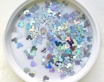 Holo Mickey Glitters Sequin Holographic Mickey Head for Slime and Crafts