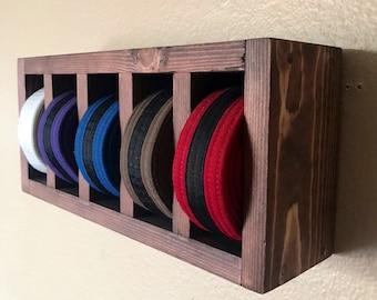 Arts martiaux Médaille Display-Ceintures Hanger Titulaire acrylique noir Livraison gratuite