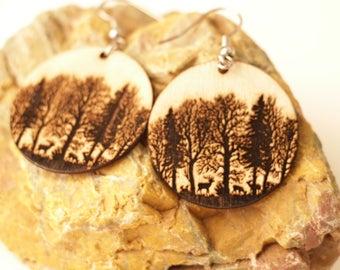 Wood Forest Earrings