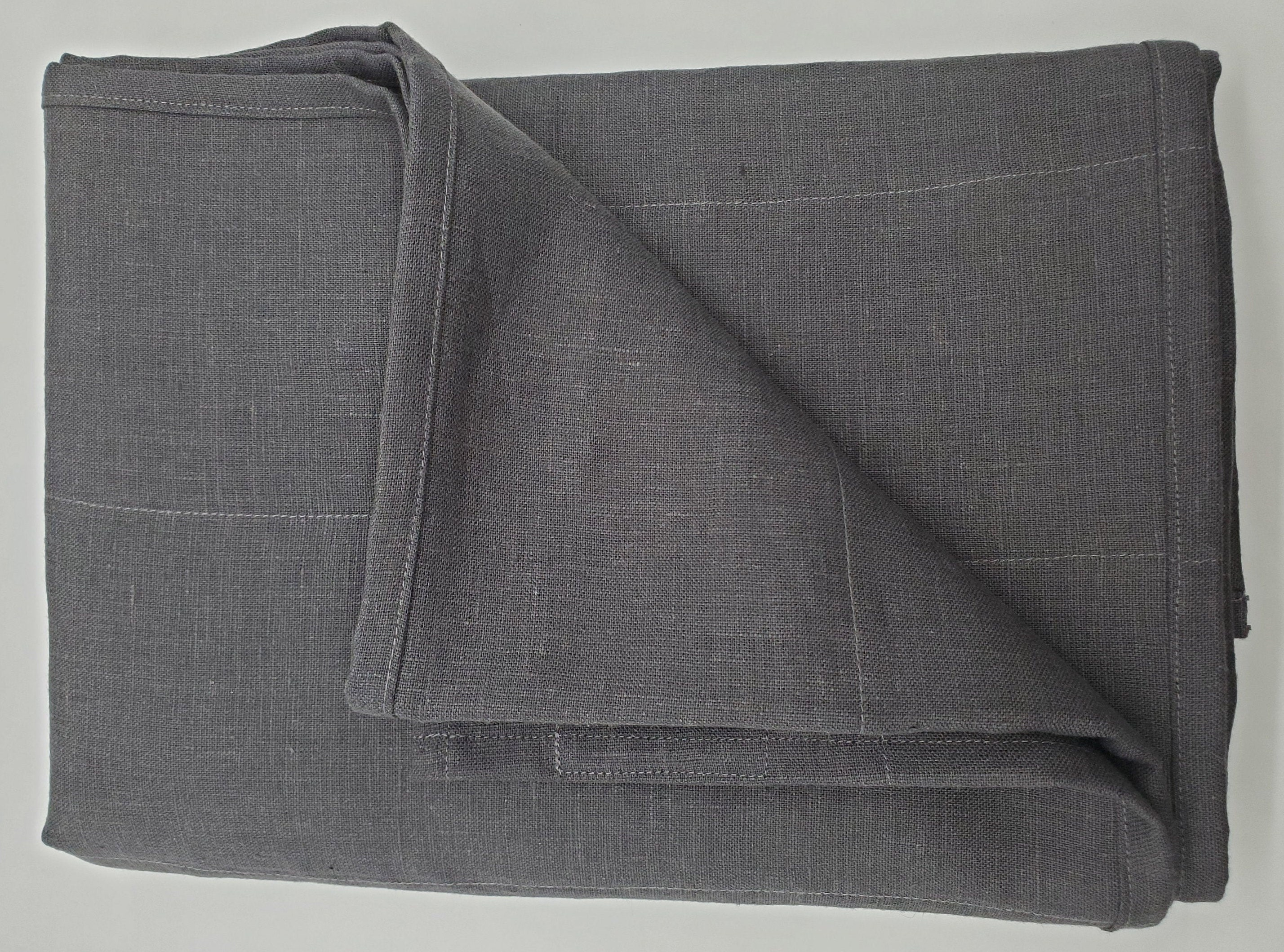 Linen weighted blanket pepper color / Therapy blanket linen / Weighted blankets / Heavy throw / Glass fill / Breathable / Pepper linen color