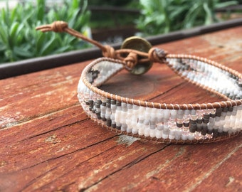 Brown & Gray ZigZag Bracelet
