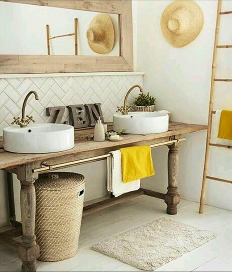 Vanité de salle de bain / meuble en bois / Double vanité | Etsy