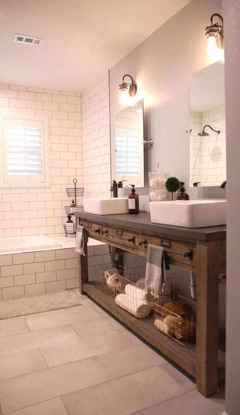 Pleasing Bathroom Vanity Wood Vanity Double Vanity Interior Design Ideas Apansoteloinfo