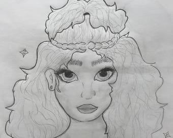 "Original art - ""Snowy"""