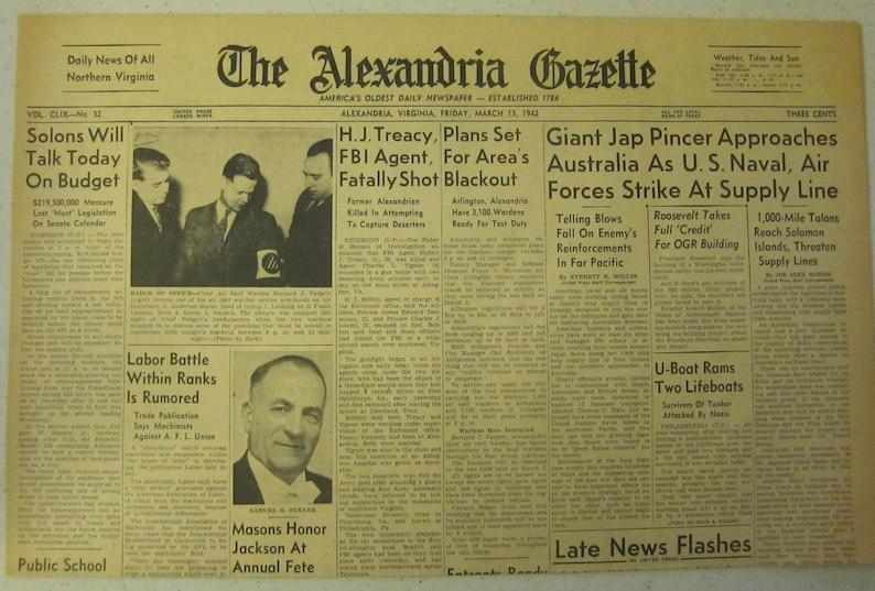 March 13 1942 The Alexandria Gazette Japanese Pincer Approaches Australia