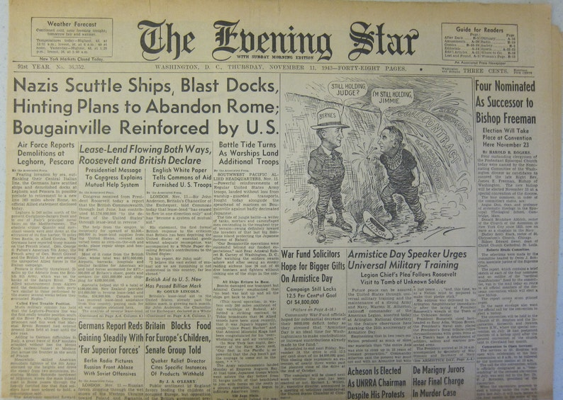 November 11 1943 The Evening Star