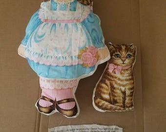 Vintage Jennifer and Catnip pillows