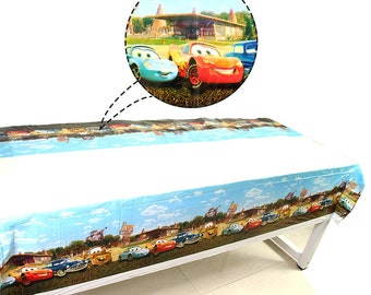 Plastic Rectangle Table Cover in BLACK - 54 inches x 108 inches 137 cm x 274 cm Cars Theme disposable Table Co