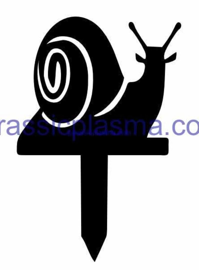 water jet vinyl vector laser snail garden stake DXF SVG file for Plasma