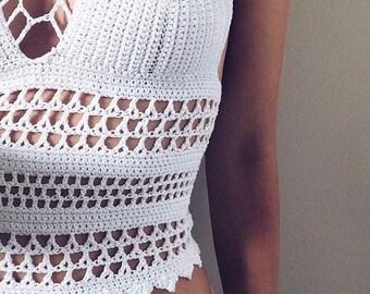 NIA Lace Crochet Top