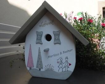 Nistkasten Meisenkasten Verabschiedungsgeschenk Vogelhaus fertig montiert