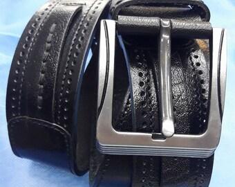 Gürtel schwarz Leder Gürtel Verarbeitung Qualität erster Klasse Leder 40baea0fc1