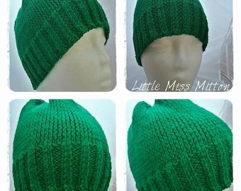 Green Winter Hat, Green Knitted Hat, Knitted Hat, Winter Wear