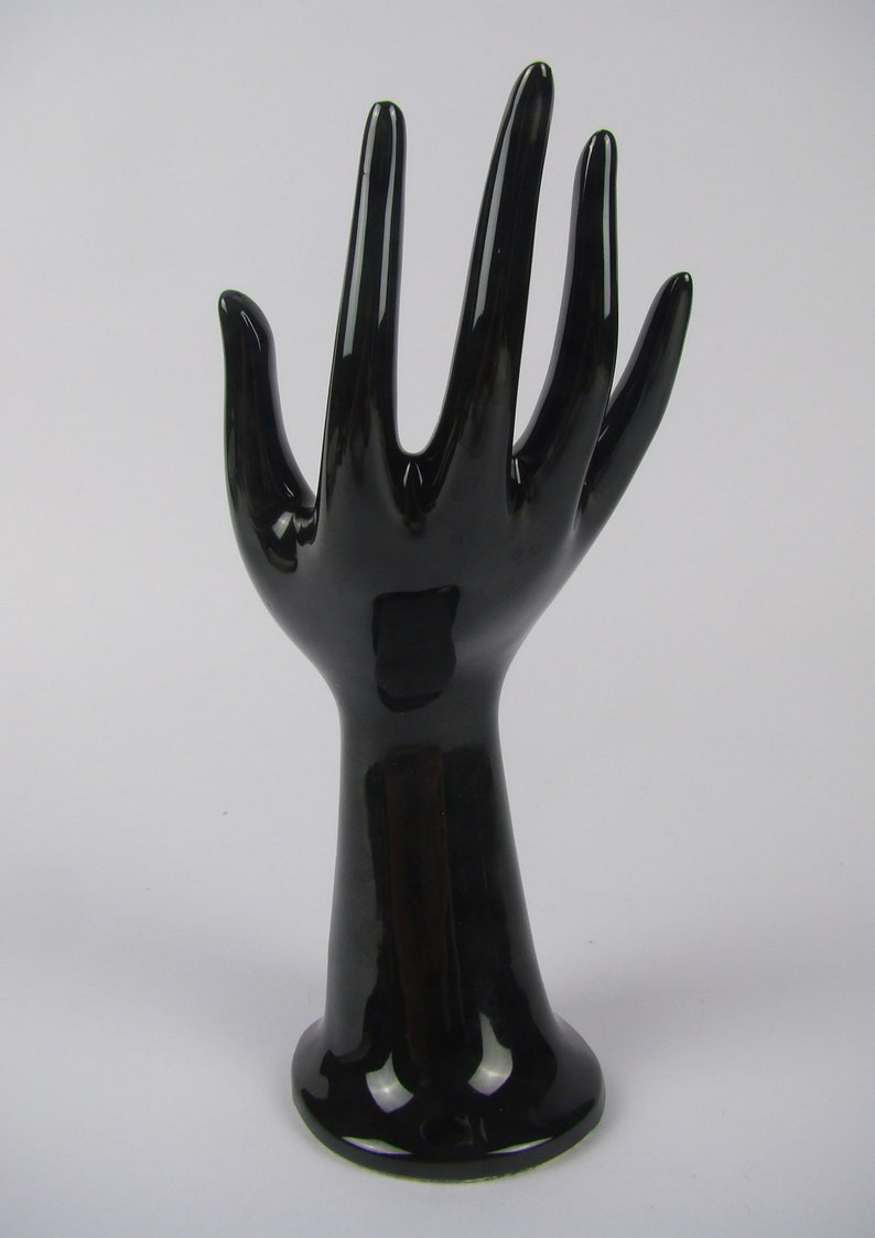 vase soliflore hand of collection jewelry display stand black hand JMR jewelry accessory Hand ring hand vase handmade porcelain