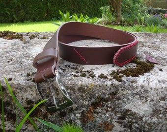 Handmade, unique leather belt