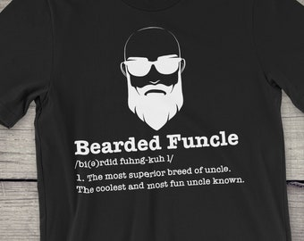 fcc9e16a Bald Bearded Funcle Tshirt | Funcle | Beard Lover | Fun Uncle | Bald Uncle  | Uncle Gift | Bearded Uncle T-shirt | Funny Family Gifts