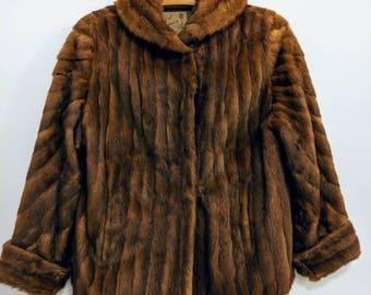 Vintage Brown Fur Coat
