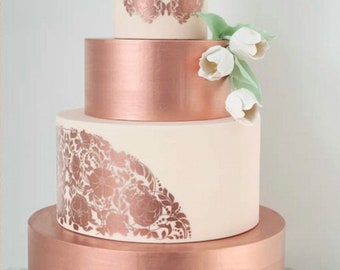 fondant Rose Gold Luster Dust cookies pearly rose gold dust for adding high luster sheen to gum paste cakes cupcakes