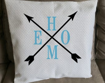 Home Pillow with Arrows