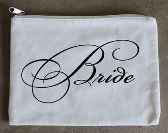 Bride Zippered Day of Wedding Bag