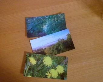 3 Photo postcards. Spring mood