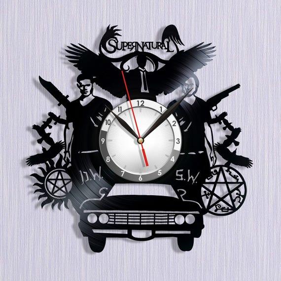 Vinyl Clock Supernatural Symbols Supernatural Valentines Etsy