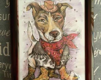 2018 Year of the Dog miniature-caricature Jessy Bad Boy