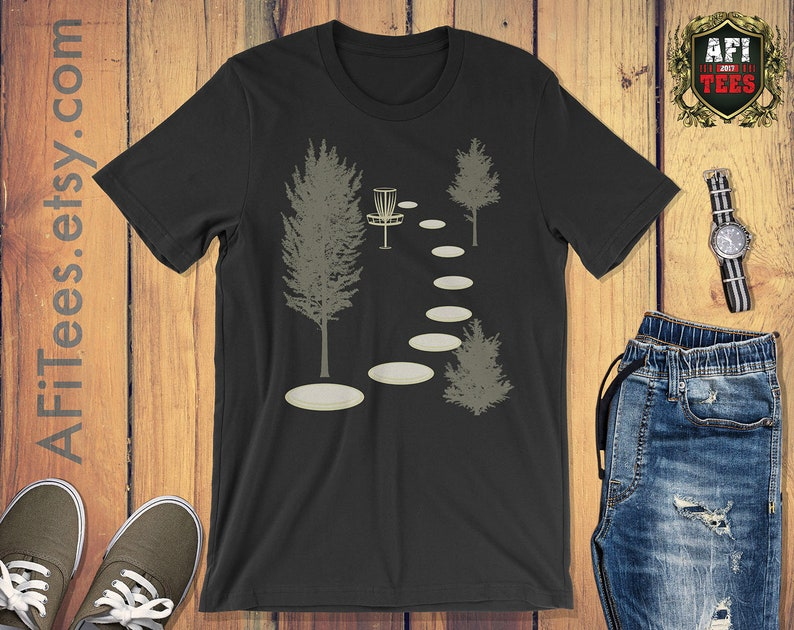 Disc Golf Into The Woods Disc Golf T Shirt Funny Disc Golf Etsy