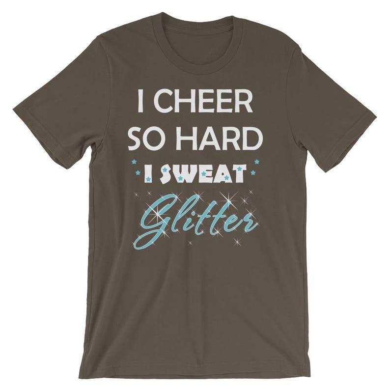 2198633e I Cheer So Hard I Sweat Glitter Shirt Girls Women Fun | Etsy