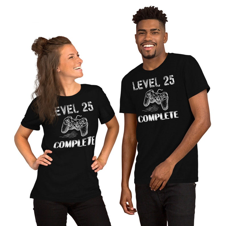 Gamer 26th Birthday Gift Idea Level 25 Complete Shirt