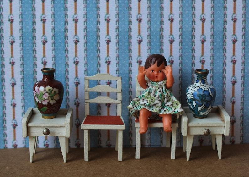 Kunst Sammlerstucke Stuhl St U00fchle Nachttisch Puppenhaus