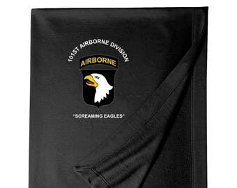 101st Airborne Division Embroidered Blanket-3341