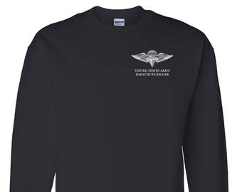 US Army Rigger Embroidered Sweatshirt-7304