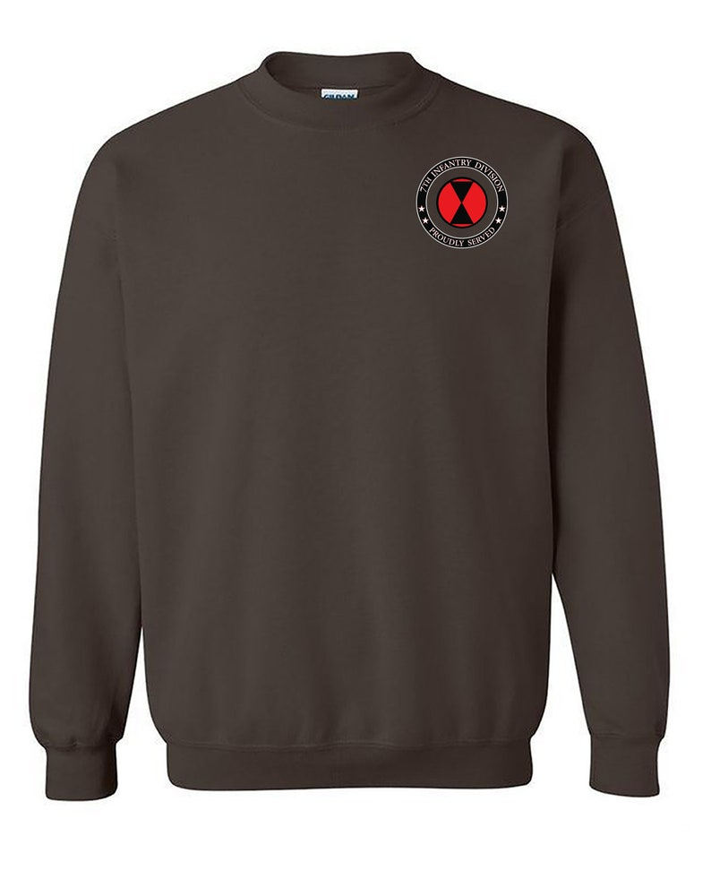 7th Infantry Division Embroidered Sweatshirt-12837