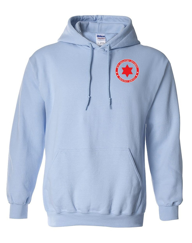 6th Infantry Division Embroidered Hooded Sweatshirt-12771
