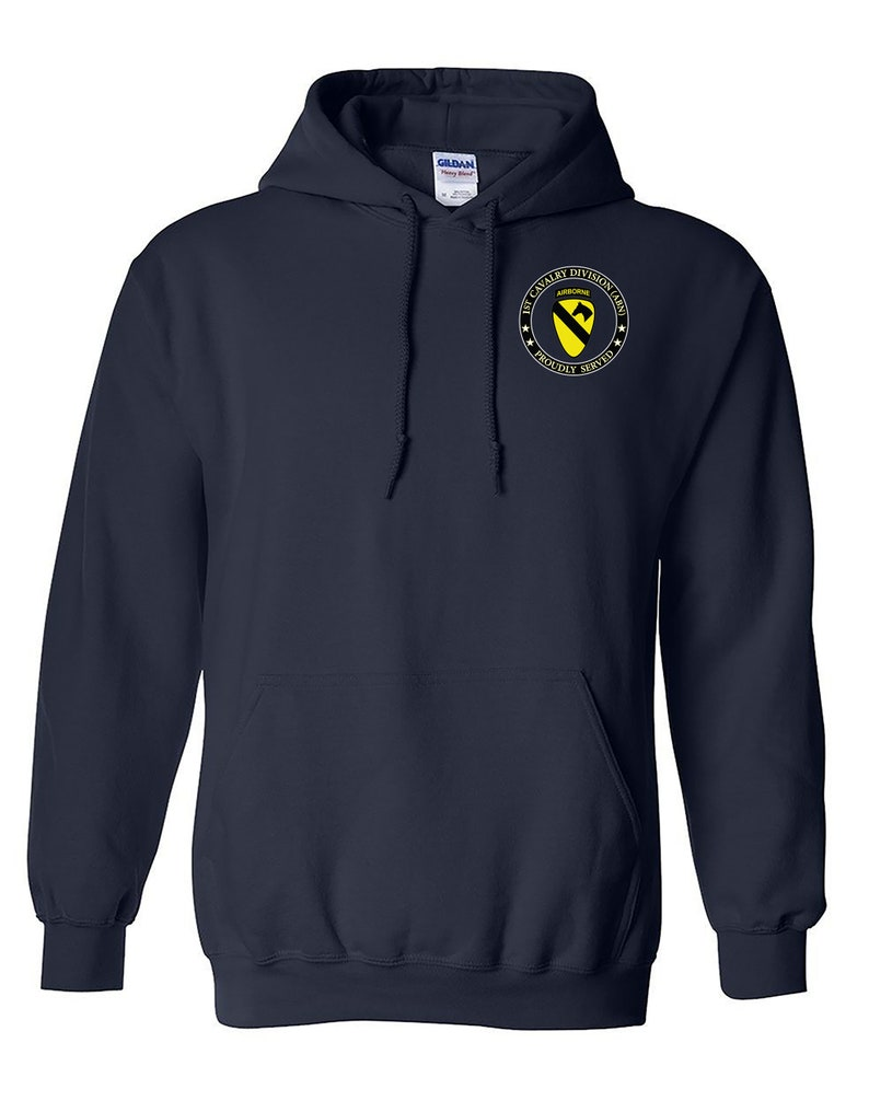 Embroidered Hooded Sweatshirt-12371 Airborne 1st Cavalry Division