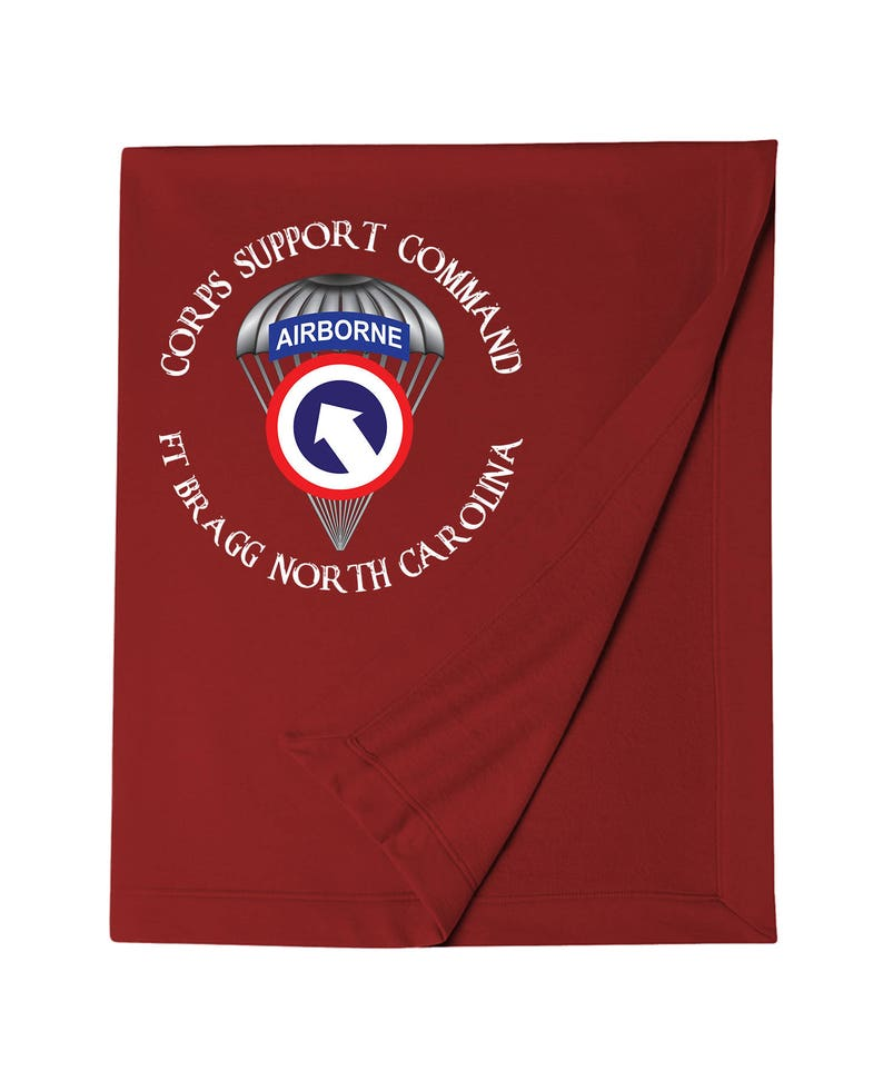 1st Sustainment Command -COSCOM (Airborne) Embroidered Blanket-7607