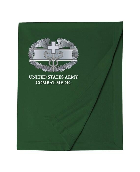 Combat Medical Badge Cmb Embroidered Blanket 6937 Etsy