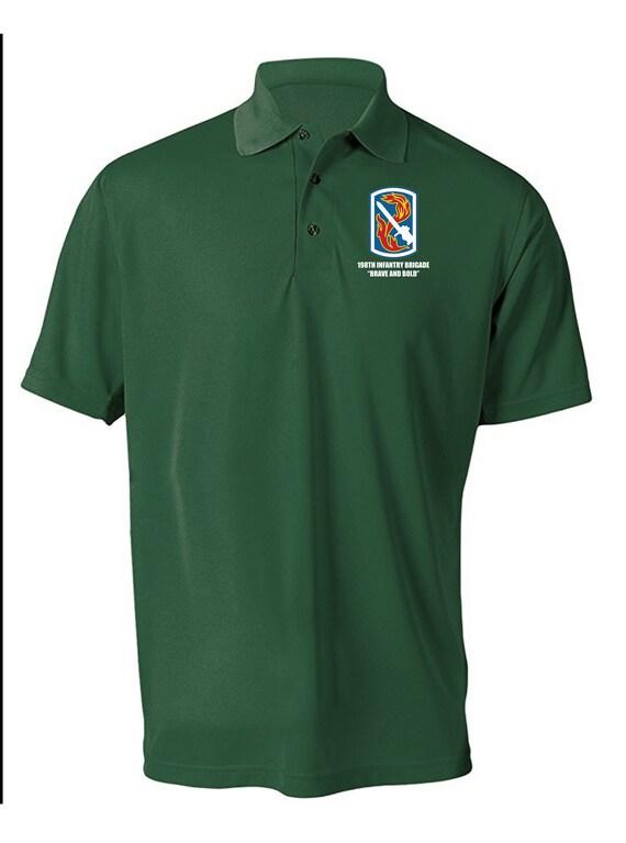 198e mèche Brigade d'infanterie légère humidité mèche 198e Polo Chemise-8523 brodée 018d50
