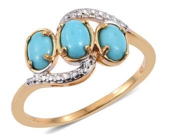 Sleeping Beauty Turquoise Ring- Size 6
