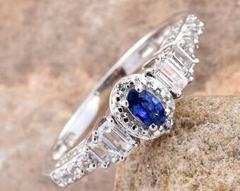 Ceylon Sapphire Ring - Size 8