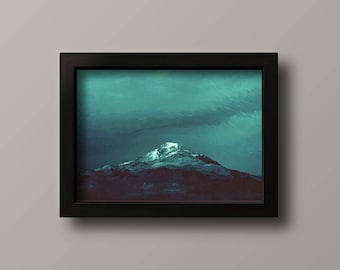 Mountains in the night, Digital download, printable oil painting
