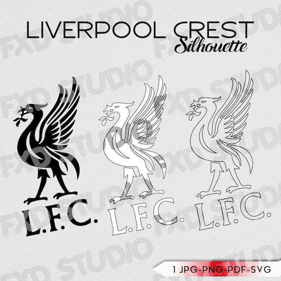 Liverpool F C Football Crest Silhouette Clip Art Image Etsy